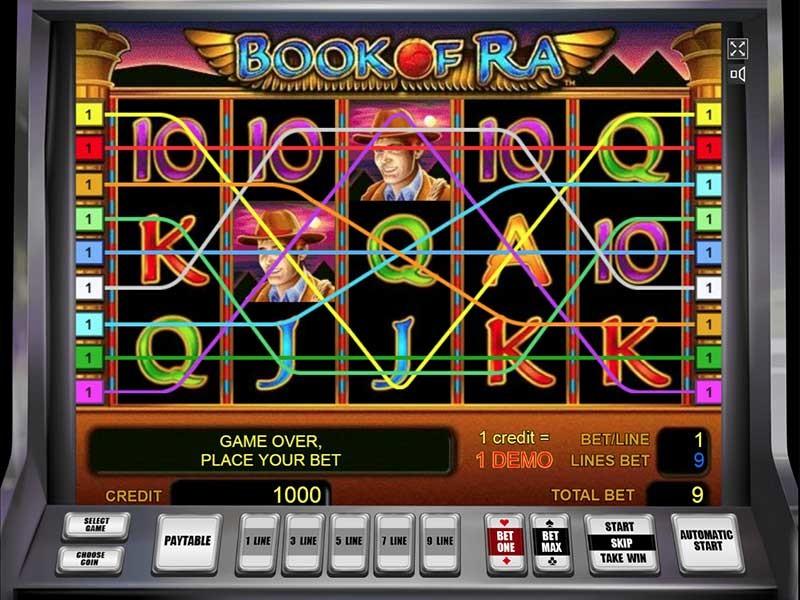Der fesselnde Spielautomat Book of Ra von Novomatic