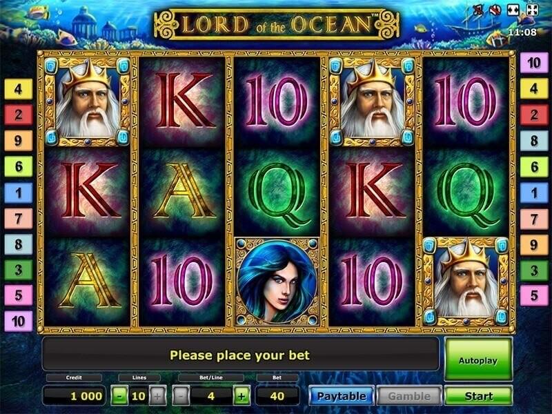 Das fesselnde Automatenspiel Lord of Ocean von Novomatic